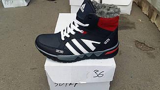 Ботинки кожаные зимние Adidas реплика