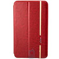 Чехол-книжка для Samsung Galaxy Tab 4 силиконовая накладка Lishen Красный