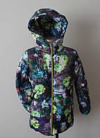 Куртка на девочку,демисезонная, с флисом
