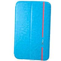 Чехол-книжка для Samsung Galaxy Tab 3 силиконовая накладка Lishen Голубой
