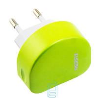 СЗУ Remax 2100 mA + USB кабель для iPhone 5/5S green