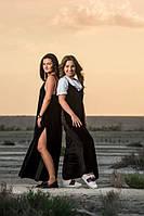 Женское длинное бархатное платье на тонких бретельках OMNIA