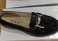 Женские лаковые туфли на низком каблуке оптом Размеры 36-41