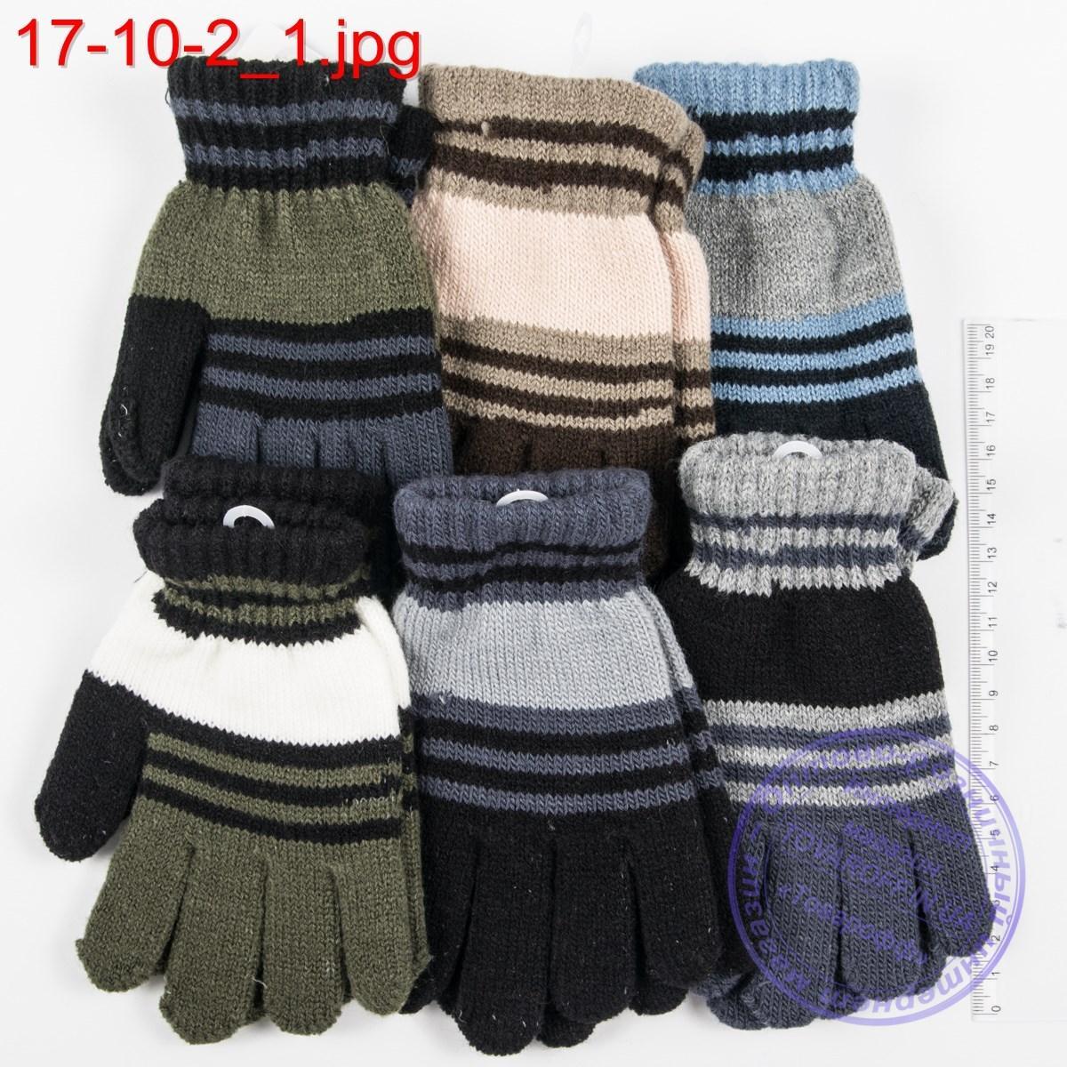 Оптом трикотажные перчатки для мальчиков 5, 6, 7, 8 лет - №17-10-2