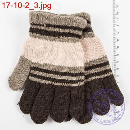Оптом трикотажные перчатки для мальчиков 5, 6, 7, 8 лет - №17-10-2, фото 3
