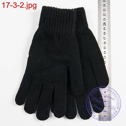 Оптом вязаные женские перчатки с начесом - №17-3-2, фото 2