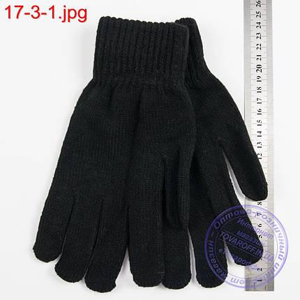 Оптом вязаные мужские перчатки с начесом - №17-3-1, фото 2