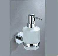 Дозатор для жидкого мыла стекло/метал SP8133