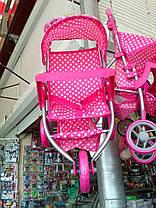 Коляска для ляльок Melogo 9377B-T прогулянкова, фото 2