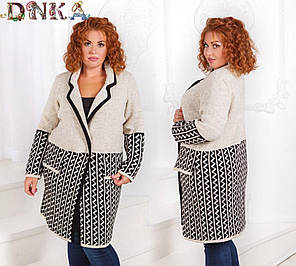 Пальто вязаное БАТАЛ  04/р2056, фото 2