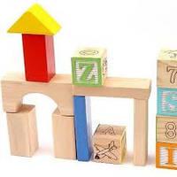 Деревянный конструктор ASDA Play- Learn 70 Piece Wooden Blocks