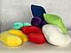 Подушка под голову клиента(махра) желтая в форме подковы, фото 3