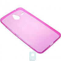 Чехол силиконовый цветной Nokia Lumia 640 XL розовый