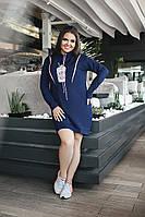 Платье туника 03583 48-50, т.синий