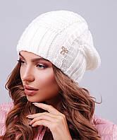 Женская шапка с текстурной вязкой(300 mrs)