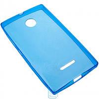 Чехол силиконовый цветной Nokia Lumia 435 синий