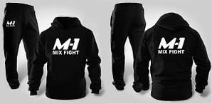 Черный спортивный мужской летний  костюм M1