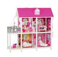 Кукольный домик для Барби 66884. Двухэтажный. 3 куклы