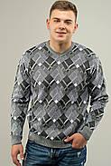 Мужской свитер прямого покроя на каждый день Доминик, цвет серый / размерный ряд 48,50,52, фото 2