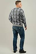 Мужской свитер прямого покроя на каждый день Доминик, цвет серый / размерный ряд 48,50,52, фото 3