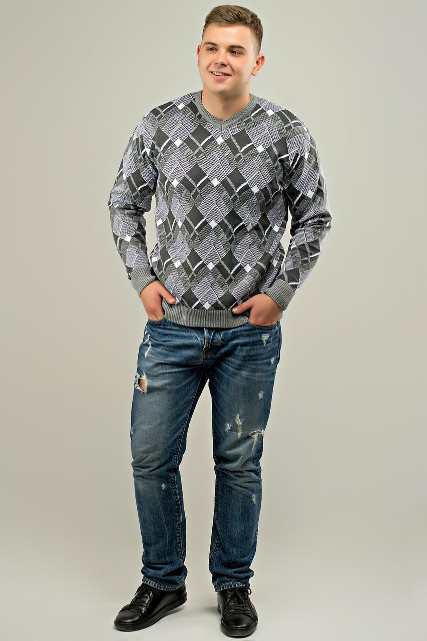 Мужской свитер прямого покроя на каждый день Доминик, цвет серый / размерный ряд 48,50,52