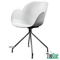 Кресло пластиковое Concepto FLOWER (хром) (белый) SC-FL09-WHITE