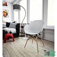 Кресло пластиковое Concepto FRIEND (белый) с деревянными ножками SC-FL08PW-WHITE