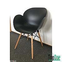 Кресло пластиковое Concepto FRIEND (черный) с деревянными ножками SC-FL08PW-BLACK