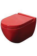 Чаша подвесного унитаза NEWARC Modern (3823R) красный