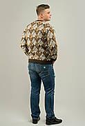 Мужской свитер прямого покроя на каждый день Доминик, цвет бежевый / размерный ряд 48,50,52, фото 3