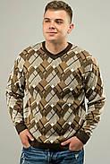 Мужской свитер прямого покроя на каждый день Доминик, цвет бежевый / размерный ряд 48,50,52, фото 2