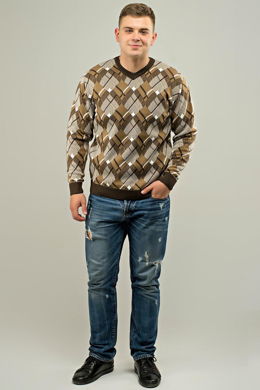 Мужской свитер прямого покроя на каждый день Доминик, цвет бежевый / размерный ряд 48,50,52