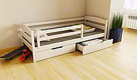 """КРОВАТЬ ДЕТСКАЯ (ПОДРОСТКОВАЯ) """"Хьюго"""" 70*140 размеры бук массив дерева , детская кровать купить Украина"""