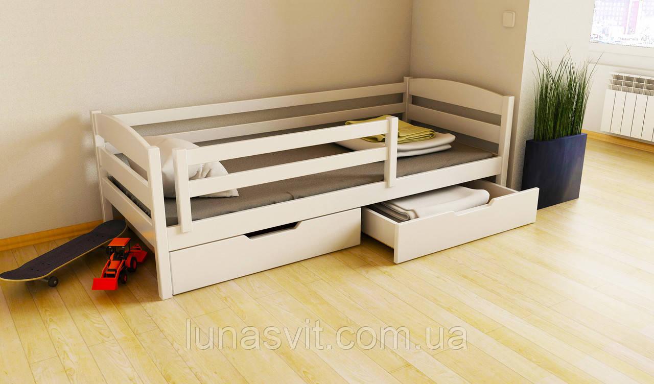 кровать детская подростковая хьюго 70140 размеры бук массив