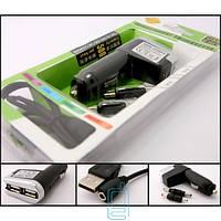 АЗУ 2 USB 5V 500 mA + переходники Nokia 6101 и 3310 Black