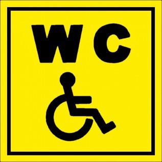 Наклейка Туалет для инвалидов