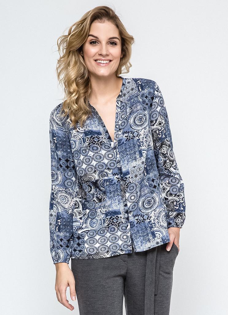 9f82dd81baa Женская рубашка синего цвета 240107 Enny
