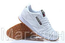 Женские кроссовки Reebok Classic Leather White Рибок белые, фото 3