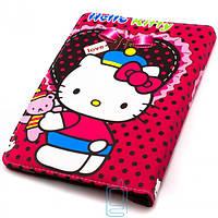 Чехол-книжка 10 дюймов с разворотом, уголки-резинка Hello Kitty Red