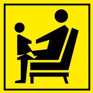 Наклейка Место для инвалидов, пожилых людей и людей с детьми