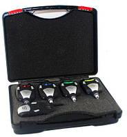 Набір сигналізаторів покльовки OldCarp K001 4+1 (пейджер 4 діоди, твердий бокс)