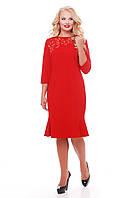 Оригинальное платье с перфорацией Анюта красная, фото 1