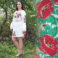 Женская сорочка-платье с вышивкой