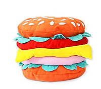 """Декоративная прикольная подушка """"Гамбургер"""", подушки для детей и всей семьи. Любое сочетание цветов!"""