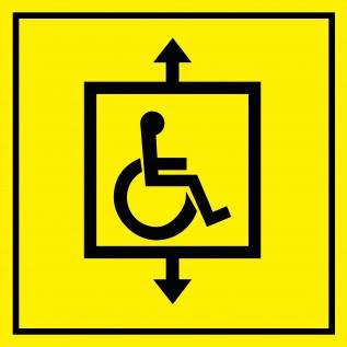 Табличка Лифт для инвалидов