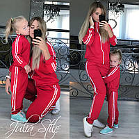 Костюм спортивный мама+дочка ЦЕНА ЗА КОСТЮМ ДОЧКА