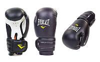 Перчатки боксерские черные EVERLAST 8 унций PVC