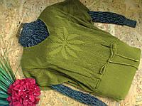 Пуловер джемпер 1205 оливка 44-50р