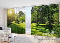 """Фото шторы """"В парке"""" 2,7м*2,9м (2 половинки по 1,45м), тесьма"""