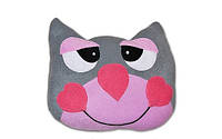 """Прикольная детская декоративная подушка """"Добрый котик"""". Любое сочетание цветов по Вашему желанию!"""